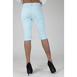 MDZ Junior's 'June' Sky Blue Denim Capris