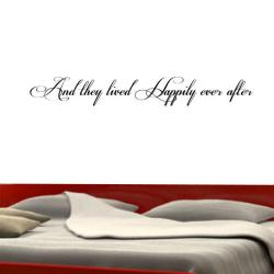And They Lived Happily Ever After' Vinyl Wall Decal