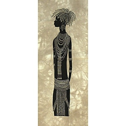 Heidi Lange 'Young Turkana Bride' Screen Print , Handmade in Kenya - Thumbnail 0