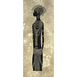 Heidi Lange 'Young Turkana Bride' Screen Print , Handmade in Kenya