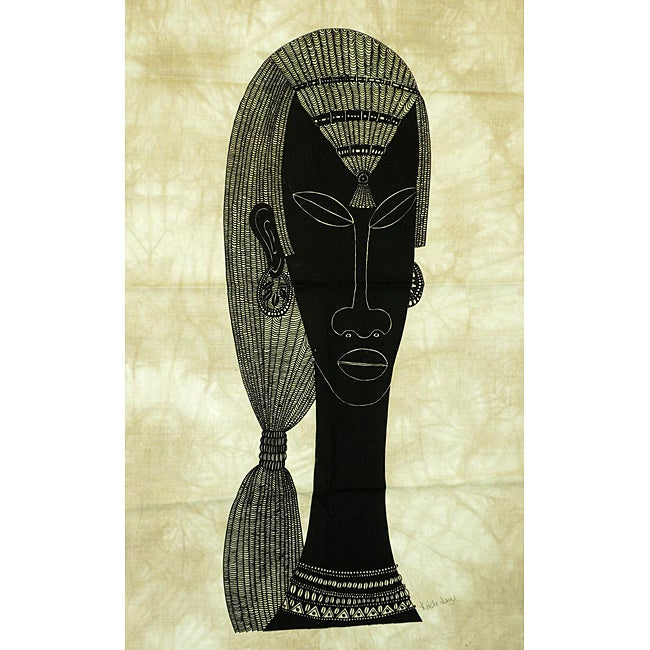 Heidi Lange 'Maasai Warrior' Screen Print (Kenya)