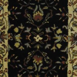Indo Hand-tufted Mahal Black/ Ivory Wool Rug (2' x 3')