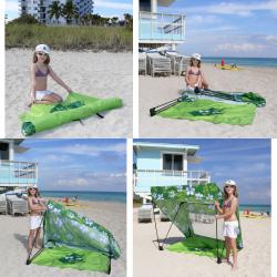 Infinita Tropical Green Island Shade Tent and Beach Shack