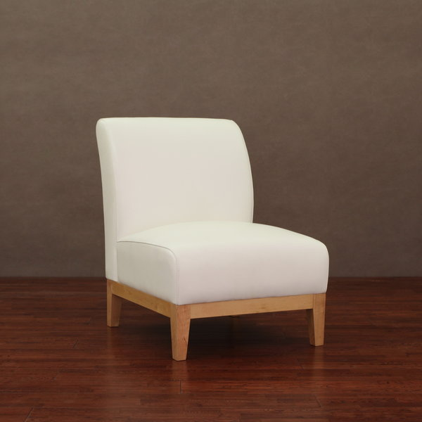 Cole White Leather Chair