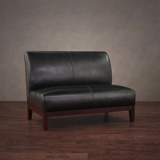 Cole/ Cleo Black Leather Loveseat