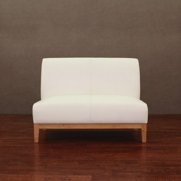 modern white loveseat. modern white loveseat cole leather free shipping today overstockcom 14097461 o v