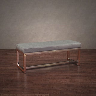Jasper Laine Liberty Charcoal Grey Leather Bench