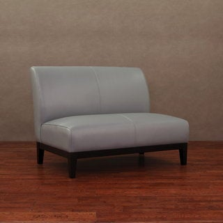 Cole Charcoal/Gray Leather Loveseat