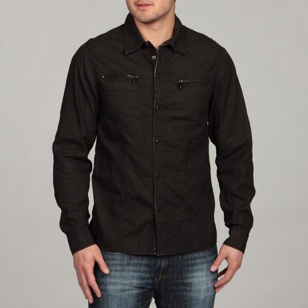 X-Ray Jeans Men's Dark Grey Woven Shirt