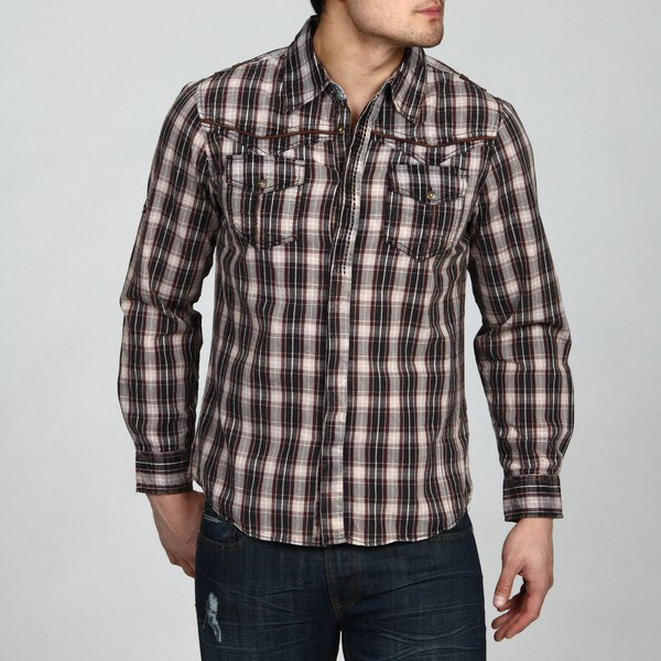 Xray Jeans Men's Grey Woven Shirt