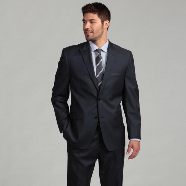 Joseph Abboud Men's Navy 2-button Wool Suit