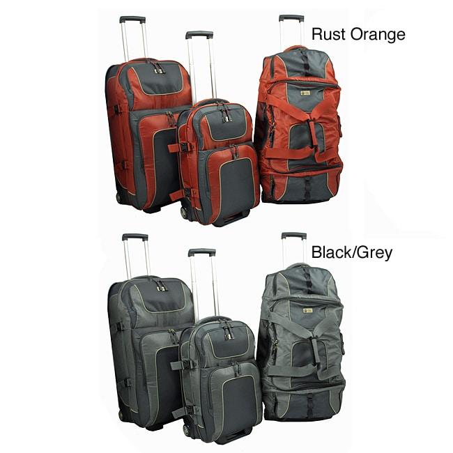 Sierra Club Half Dome 3-Piece Upright and Rolling Duffel Luggage Set