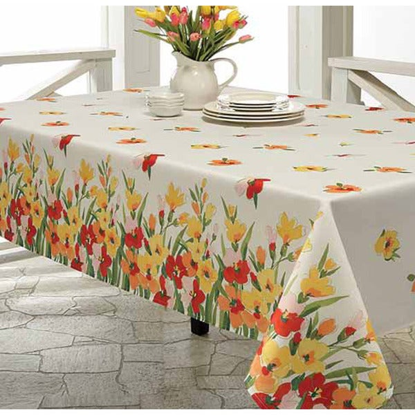 Primavera Printed 70-inch Round Tablecloth