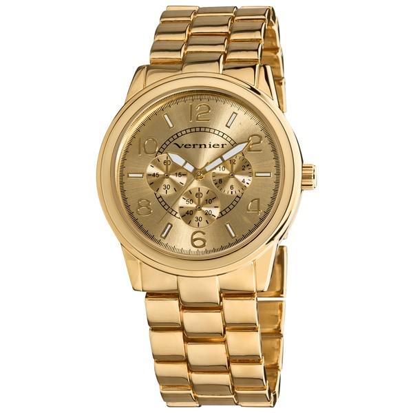 Vernier Women's Round Chrono Look Bracelet Watch