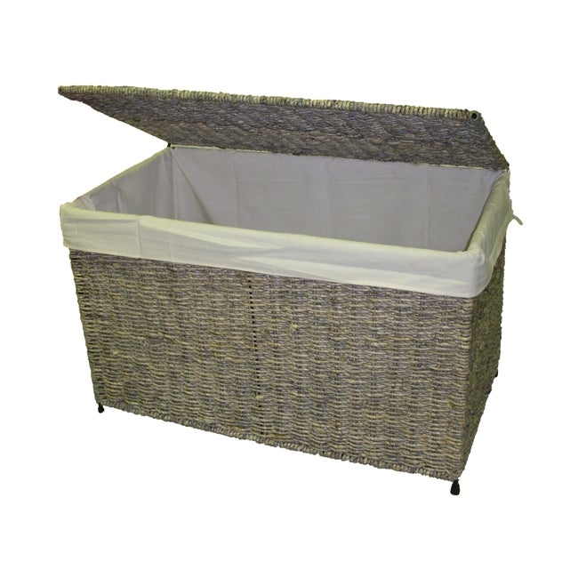 Woven Maize Gray Storage Chest