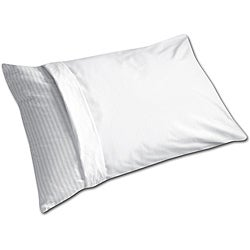 White Machine-washable Anti-allergy Pillow Protector (Set of 6) - Thumbnail 0
