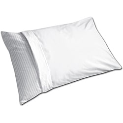 White Machine-washable Anti-allergy Pillow Protector (Set of 6)