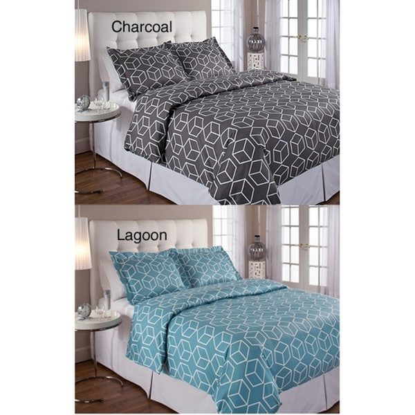 Cubism Sateen Duvet Cover and Sham 3-piece Set
