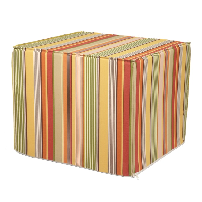 Brooklyn Indoor/ Outdoor 22-inch Square Ottoman