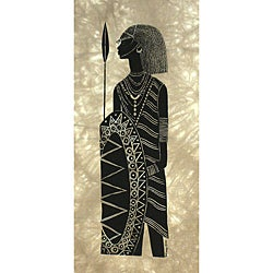Heidi Lange Screen Print - Warrior From Maasai Mara (Kenya)