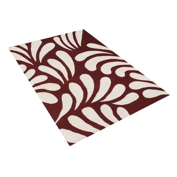 Alliyah Handmade Maroon New Zealand Blend Wool Rug (5' x 8')