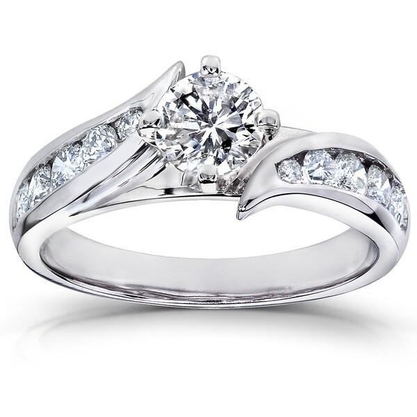 Annello by Kobelli 14k Gold 1ct TDW Diamond Engagement Ring