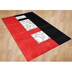 Handmade Metro Sabrina New Zealand Wool Blend Red Area Rug (8' x 10') - Thumbnail 1