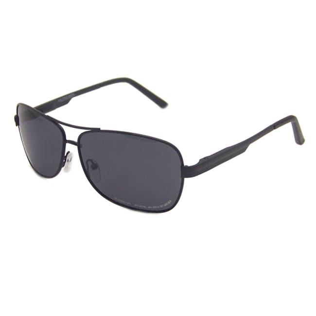 US Polo Association Men's Black 'Langley' Polarized Aviator Sunglasses