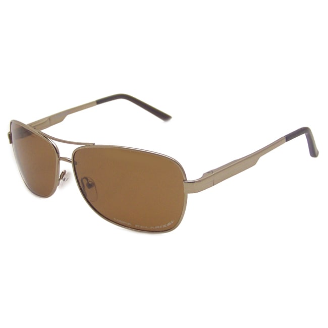 US Polo Association Men's 'Langley' Metal Polarized Aviator Sunglasses