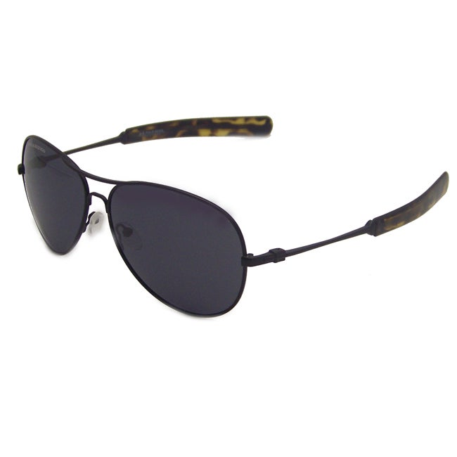 US Polo Association Men's 'Lexington' Black Polarized Aviator Sunglasses