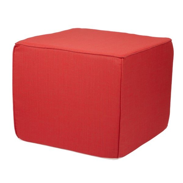 Brooklyn Sunbrella Indoor/ outdoor 22-inch Square Ottoman-Textured Bright Colors
