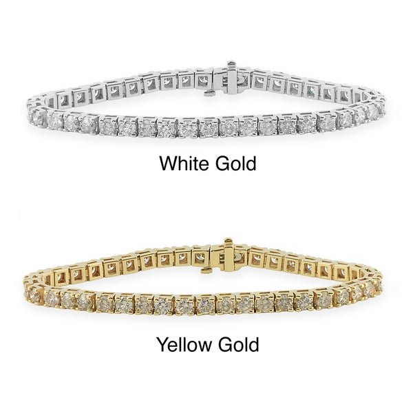Auriya 14k Gold 9ct TDW 8-inch Diamond Tennis Bracelet