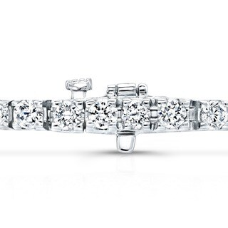 14k Gold 1 3/4ct TDW 6-inch Diamond Tennis Bracelet by Auriya
