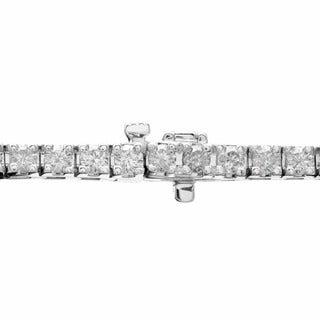 14k Gold 9-Inch Certified 10ct TDW Round Diamond Tennis Bracelet