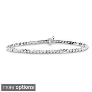 Auriya 14k Gold 2 1/3ct TDW Diamond 8-inch Tennis Bracelet