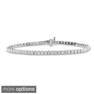 14k Gold 2 1/3ct TDW 8-inch Round Diamond Tennis Bracelet by Auriya