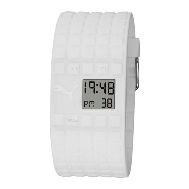 Puma Unisex White Cell Digital Watch