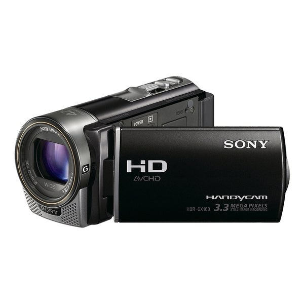 """Sony Handycam HDR-CX160 Digital Camcorder - 3"""" - Touchscreen LCD - CM"""