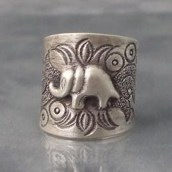 Handmade Karen Hill Tribe Jungle Elephant Ring (Thailand)