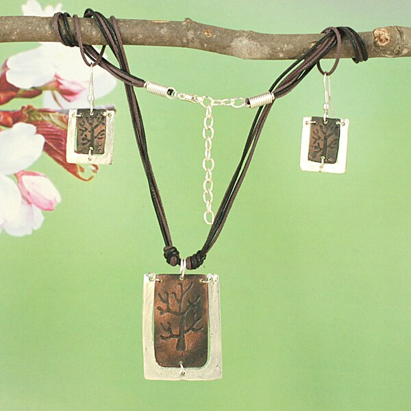 Handcrafted Copper Tree of Life Earring and Necklace Set (India)