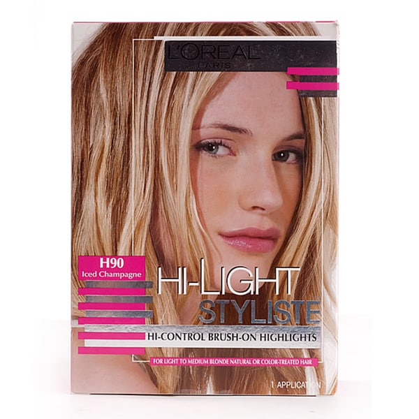 L'Oreal Hi-Light Styliste #H90 Iced Champagne Hair Color (Pack of 4)