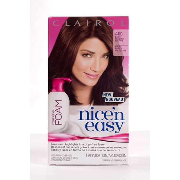 Clairol Nice'n Easy Foam 4RB Dark Reddish Brown (Pack of 4)