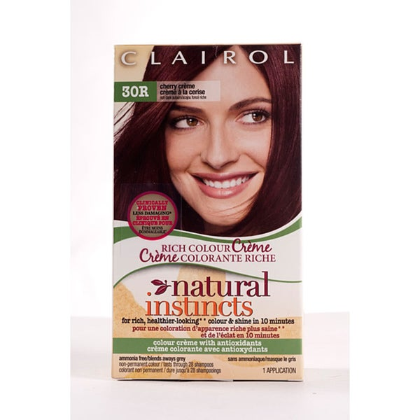 Clairol Natural Instincts #30R Cherry Creme Hair Color (Pack of 4)