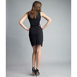 Issue New York Women's Black Sleeveless Beaded Cocktail Dress