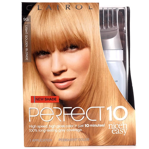 Clairol Nice'n Easy Perfect 10 #9G Light Golden Blonde (Pack of 4)