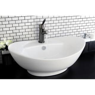 Oval Vitreous China White Bathroom Vessel Sink. Vessel Bathroom Sinks For Less   Overstock com