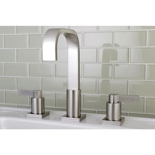 High Arch Brushed Nickel Widespread Bathroom Faucet