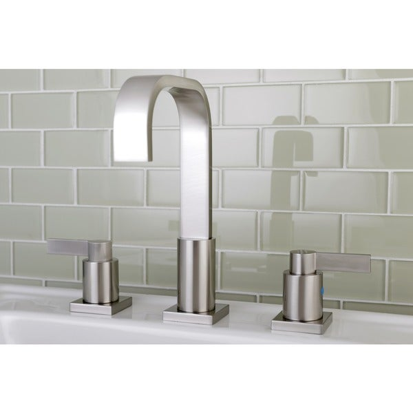 High Arch Satin Nickel Widespread Bathroom Faucet