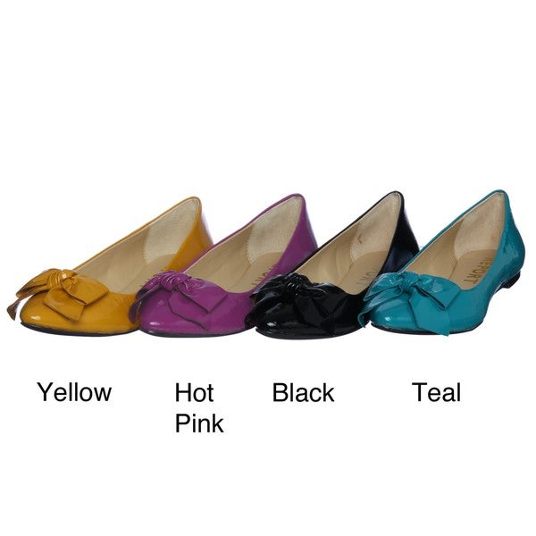 Report Women's 'Kathryn' Leather Bow Flats