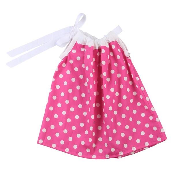 Just Girls Infant Pink Polka Dot Dress and Bloomers Set